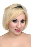1美好的白肤金发的headshot 免版税库存图片