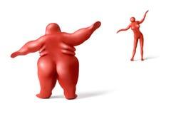 1肥胖健身 库存照片
