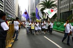 1菲律宾罢工 库存图片