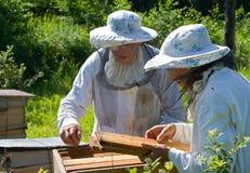 1蜂农 免版税库存图片