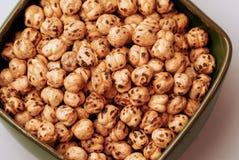 1被烘烤的鸡豆 免版税库存照片