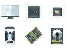 1计算机图标零件集 库存图片