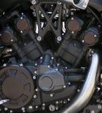 1辆引擎摩托车 免版税库存图片
