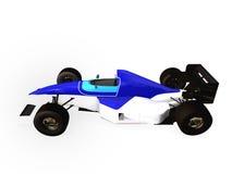 1辆蓝色汽车f1赛跑的卷 库存图片