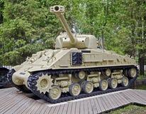 1辆谢尔曼坦克 免版税库存图片