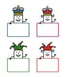 1部动画片标签 皇族释放例证