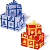 1配件箱圣诞节卷 库存例证