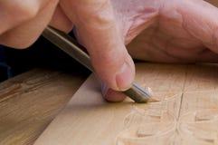 1雕刻的木头 免版税图库摄影