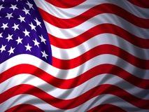 1面美国国旗 免版税库存图片
