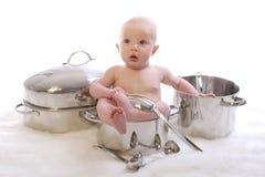 1顿婴孩正餐 库存图片