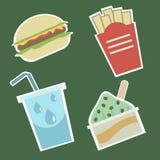 1食物图标 免版税库存照片
