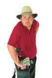 1高尔夫球人使用 库存图片