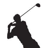 1高尔夫球摇摆 库存照片