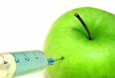 1 äpple gmo royaltyfria foton