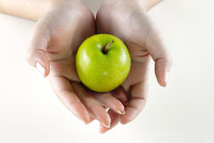 1 äpple - green Arkivbilder