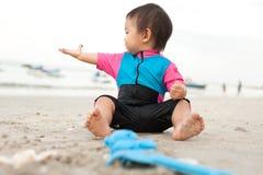 1 éénjarige Aziatische Chinese peuter Stock Fotografie