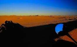 1 öken ingen solnedgång Arkivbild