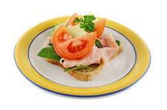 1 öppna smörgås Royaltyfria Bilder