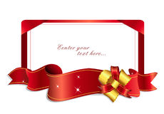 (1) łęku 4 faborku (1) czerwonego Zdjęcia Royalty Free