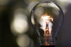 1 światła żarówki Fotografia Stock