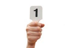 (1) żeńska ręki mienia liczba Zdjęcia Stock