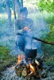 1 άτομο φωτιών Στοκ Φωτογραφίες