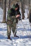 1 άτομο φωτογραφικών μηχανών Στοκ φωτογραφία με δικαίωμα ελεύθερης χρήσης