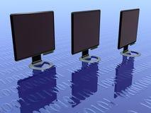 1 ένταση μηνυτόρων LCD Στοκ Εικόνα