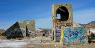 1 έρημο γκράφιτι παρουσίασ&eta Στοκ φωτογραφία με δικαίωμα ελεύθερης χρήσης