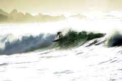 1 αναδρομικά φωτισμένο surfer Στοκ φωτογραφίες με δικαίωμα ελεύθερης χρήσης