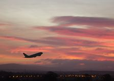 1 ανατολή αεροπλάνων Στοκ Φωτογραφία