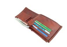 1 ανοικτό πορτοφόλι Στοκ φωτογραφία με δικαίωμα ελεύθερης χρήσης