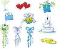1 απλός γάμος εικονιδίων Στοκ φωτογραφίες με δικαίωμα ελεύθερης χρήσης