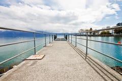 1 αποβάθρα λιμνών της Γενεύης Στοκ Εικόνες