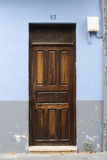 1 αριθμός πορτών ξύλινος Στοκ Φωτογραφία