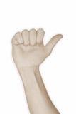 1 αριθμός χεριών ένας Στοκ Εικόνες