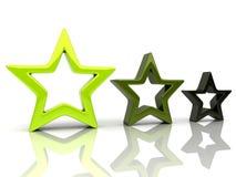 1 αστέρια τρία Στοκ εικόνα με δικαίωμα ελεύθερης χρήσης