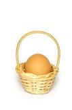1 αυγό handbasket Στοκ φωτογραφία με δικαίωμα ελεύθερης χρήσης