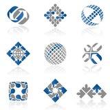 1 αφηρημένο σύνολο λογότυπων Στοκ Εικόνα