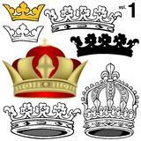 1 βασιλική ένταση κορωνών Στοκ Εικόνες