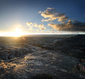 1 βράχος τοπίων ηφαιστεια&kapp Στοκ Φωτογραφίες