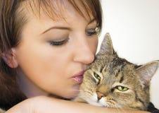 1 γάτα που αγαπιέται Στοκ φωτογραφία με δικαίωμα ελεύθερης χρήσης