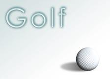 1 γκολφ Στοκ φωτογραφία με δικαίωμα ελεύθερης χρήσης