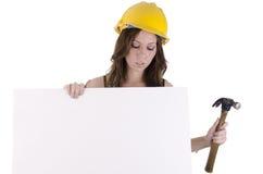 1 γυναίκα κατασκευής Στοκ Εικόνες