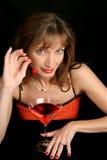 1 γυναικείο κόκκινο κερ&alph Στοκ εικόνες με δικαίωμα ελεύθερης χρήσης