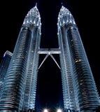 1 δίδυμο πύργων petronas νύχτας της &K Στοκ Εικόνες