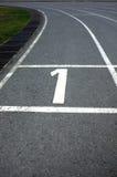 1 διαδρομή αριθμού αθλητισμού Στοκ Εικόνες