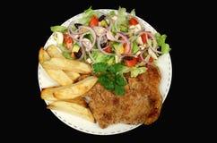 1 εγκάρδιο schnitzel κοτόπουλου Στοκ εικόνα με δικαίωμα ελεύθερης χρήσης