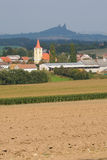 1 εκκλησία κανένα χωριό Στοκ Εικόνα
