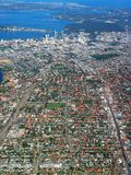 1 εναέρια όψη του Περθ πόλεων στοκ εικόνες με δικαίωμα ελεύθερης χρήσης